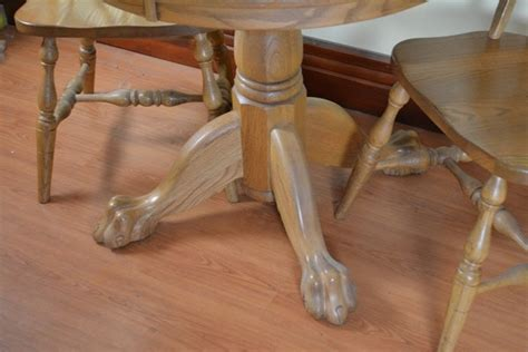 amish made oak table and chairs amish made oak round table and two chairs ebth