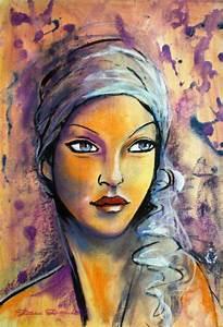 Peinture Visage Femme : les 25 meilleures id es de la cat gorie peinture femme sur pinterest peinture de femme art ~ Melissatoandfro.com Idées de Décoration