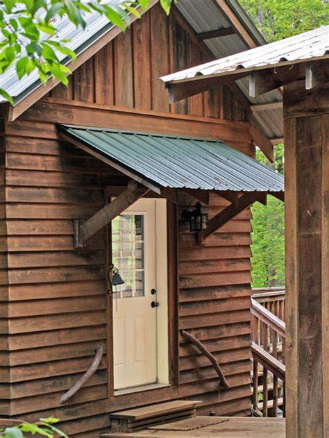rustic awning home design ideas pictures remodel  decor