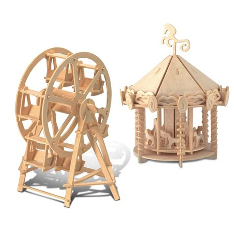 puzzled ferris wheel  carousel wooden  puzzle