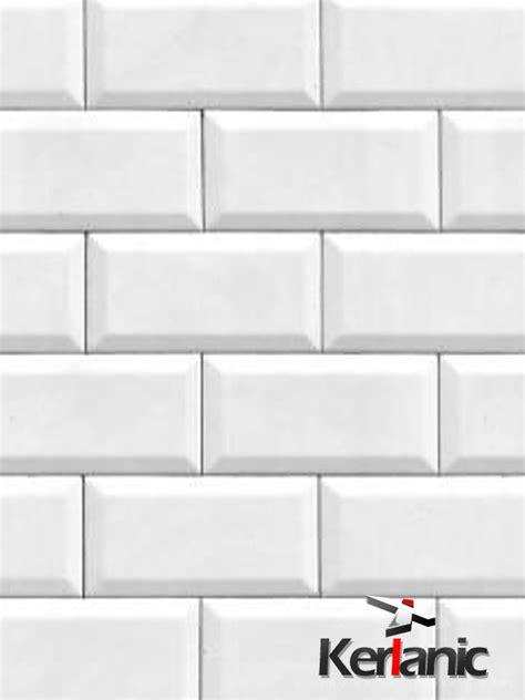 revestimiento tipo metro  cm biselado blanco