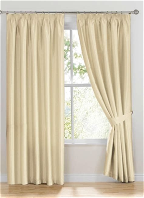 ready made curtains como ivory white faux silk curtains
