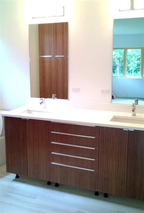 custom ikea cabinet doors bathroom