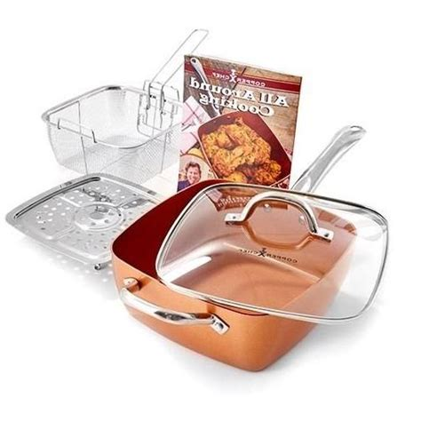 copper chef  piece cookware set
