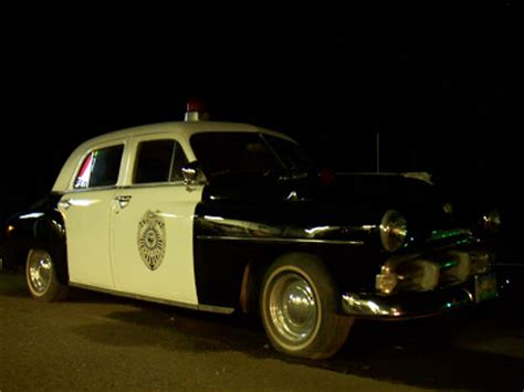 eclectic photography project day  vintage police car