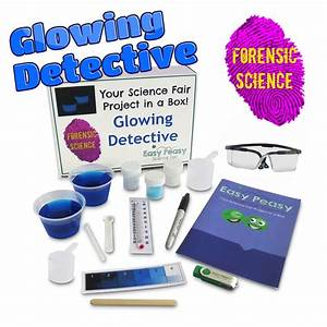 Science Fair Project Headers Glowing Detective Chemistry Science Fair Project Kit W