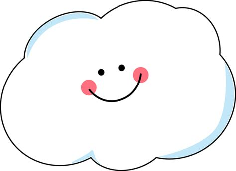 Happy Cloud Clip Art