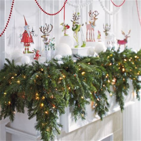 mantle garland with lights christmas decorating ideas discovered on cyber monday