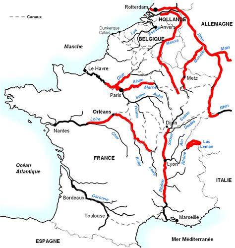 Carte Fleuve Rhin by Fleuves De Voyages Cartes