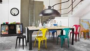 Tabouret Haut Maison Du Monde : chaise et tabouret au style industriel ~ Teatrodelosmanantiales.com Idées de Décoration