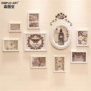 Home decor diy carved wood frame wall photo