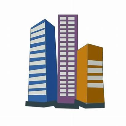 Estate Icon Vector Clipart Buildings Office Illustration