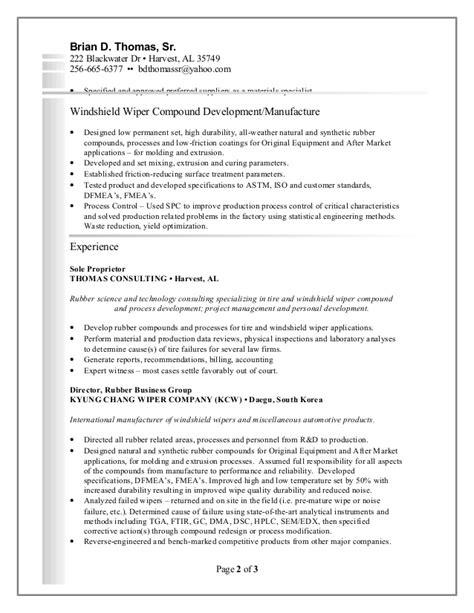 Brian D. Thomas Sr. - Resume - consultant -021216