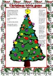 christmas trivia game question cards on page 2 to go with the christmas tree board game
