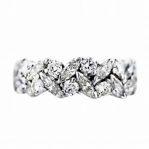 platinum marquise and round diamond eternity band ring With marquise engagement rings with wedding band