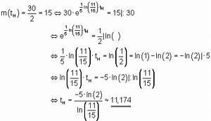 Halbwertszeit Berechnen Formel : abiturvorbereitung l sung aufgabe 3 ~ Themetempest.com Abrechnung