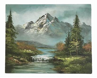 Mountain Oil Painting Stream Landscape Paintings Chairish