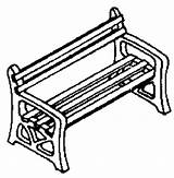 Bench Template Coloring Pages Templates sketch template