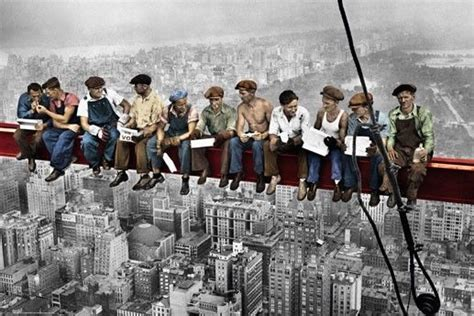 lunch atop a skyscraper lunch atop a skyscraper poster quot new york construction workers lunching quot colour ebay