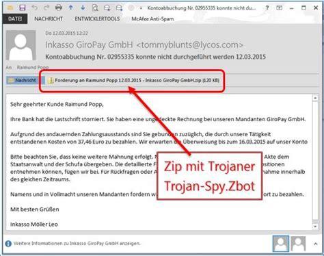 achtung sehr gefaehrliche email von giropay mit trojaner