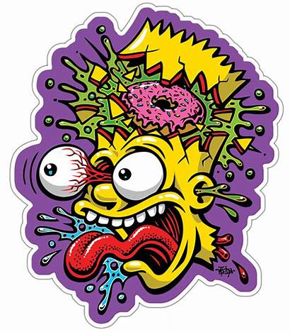 Bart Simpson Simpsons Stickers Sticker Drawing Poster