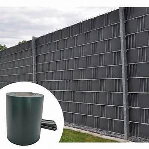 Sichtschutz Für Doppelstabmatten : pvc sichtschutzstreifen zaunfolie sichtschutz doppelstabmatten grau gr n 35m ebay ~ Orissabook.com Haus und Dekorationen