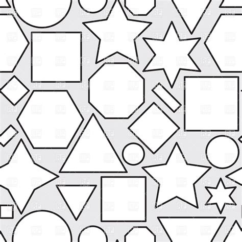Abstract Geometric Shapes Black And White by Abstract Black And White Seamless Pattern With Geometric
