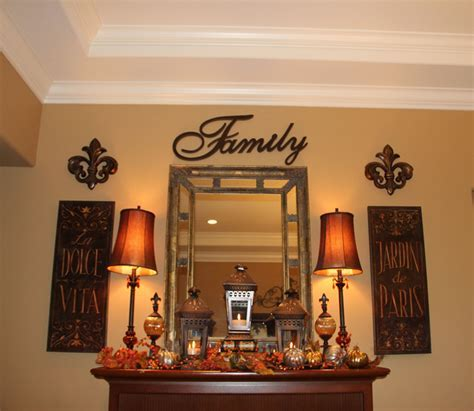 Fall Display/Dining Room Mantle