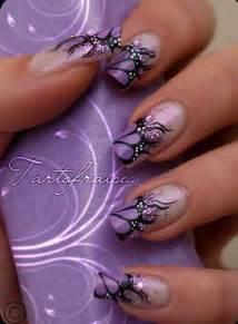 nailart design purple and black nail nail designs picture