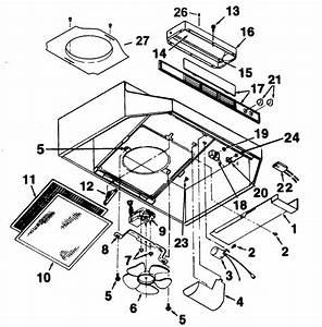 Range Hood Diagram  U0026 Parts List For Model 462401 Broan