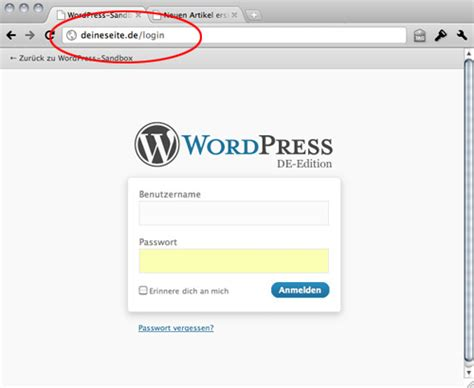Wordpress-login-url Mit .htaccess ändern