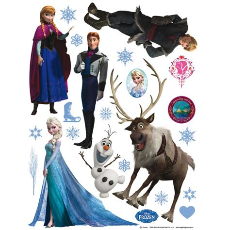 sticker mural la reine des neiges stickers g 233 ant la reine des neiges frozen disney sticker