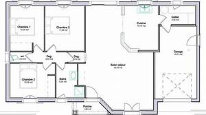 plan de maison plein pied avec garage plans pinterest With wonderful modele de plan maison 0 maison plain pied garage double