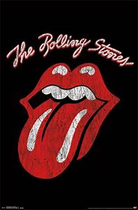 Rolling Stones Classic Logo Wall Poster