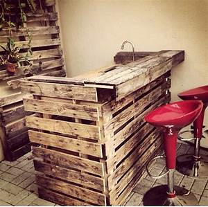 I built a bar with running water out of shipping pallets