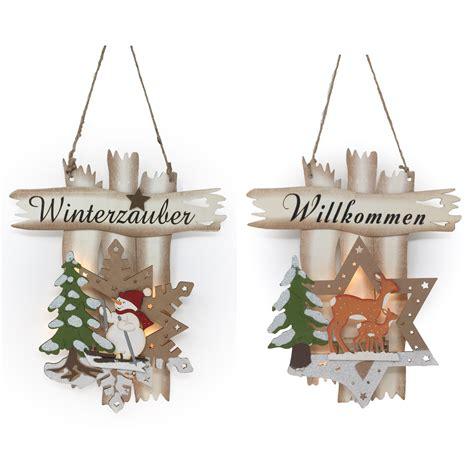 Fensterbilder Weihnachten Holz Beleuchtet by Fensterbild Beleuchtet Winterzauber Willkommen 3d Wandbild