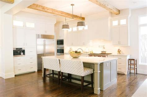 Kitchen Island With Upholstered Bench Seating Design Ideas