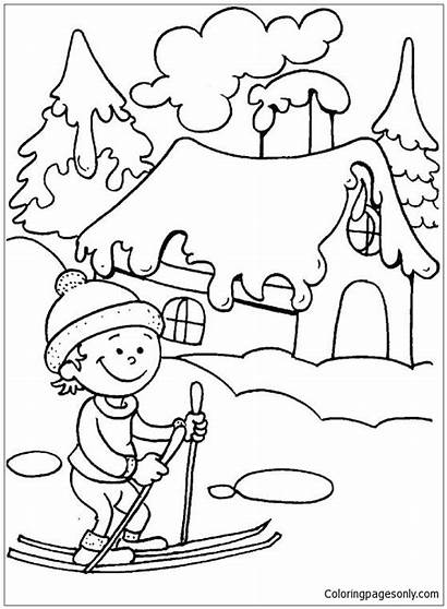 Winter Pages Season Coloring