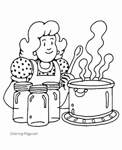 Coloring Cooking Pages