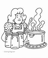 Coloring Pages Cooking Thanksgiving Popular sketch template