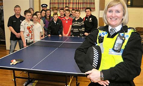 donate ping pong table police donate ping pong table to ingleby barwick youth