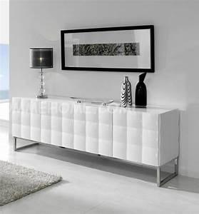 Meuble Deco Design : buffet bahut design blanc alfeo zd1 bah b d ~ Teatrodelosmanantiales.com Idées de Décoration