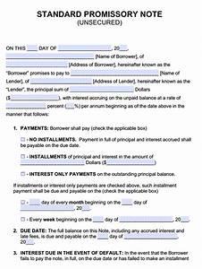 promissory note word document doc12751650 promissory With free promissory note word document