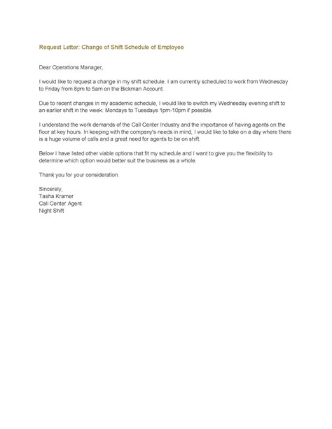 change of working hours letter template for contracts nz change of working hours letter to employee letters