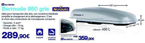 coffre de toit bermude 950 auto 5 promotion bermude 950 gris norauto coffre de rangement voiture disponible jusqu