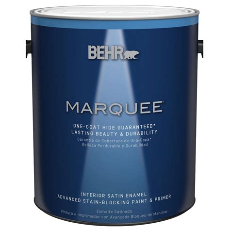 home depot interior paints behr marquee 1 gal base satin enamel interior paint