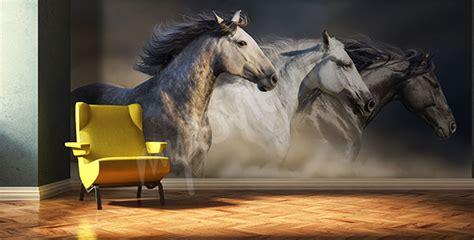 papier peint chevaux pour chambre papiers peints chevaux mur aux dimensions myloview fr