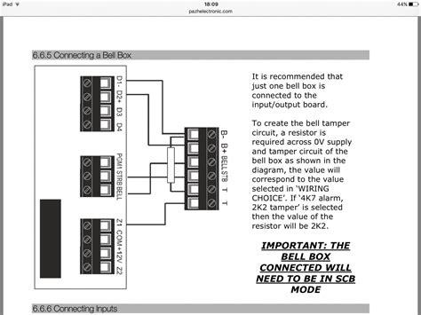 wiring lumin bell box  pyronix enforcer panel diynot forums