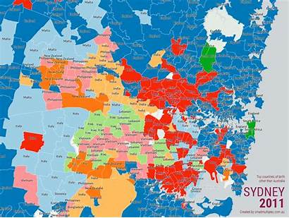 Sydney Europe Immigrants Come Map Eastern Southern