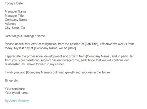 weeks notice resignation letter examples  examples